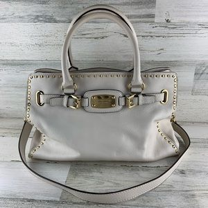 MICHAEL KORS Hamilton Optic White Tote Bag